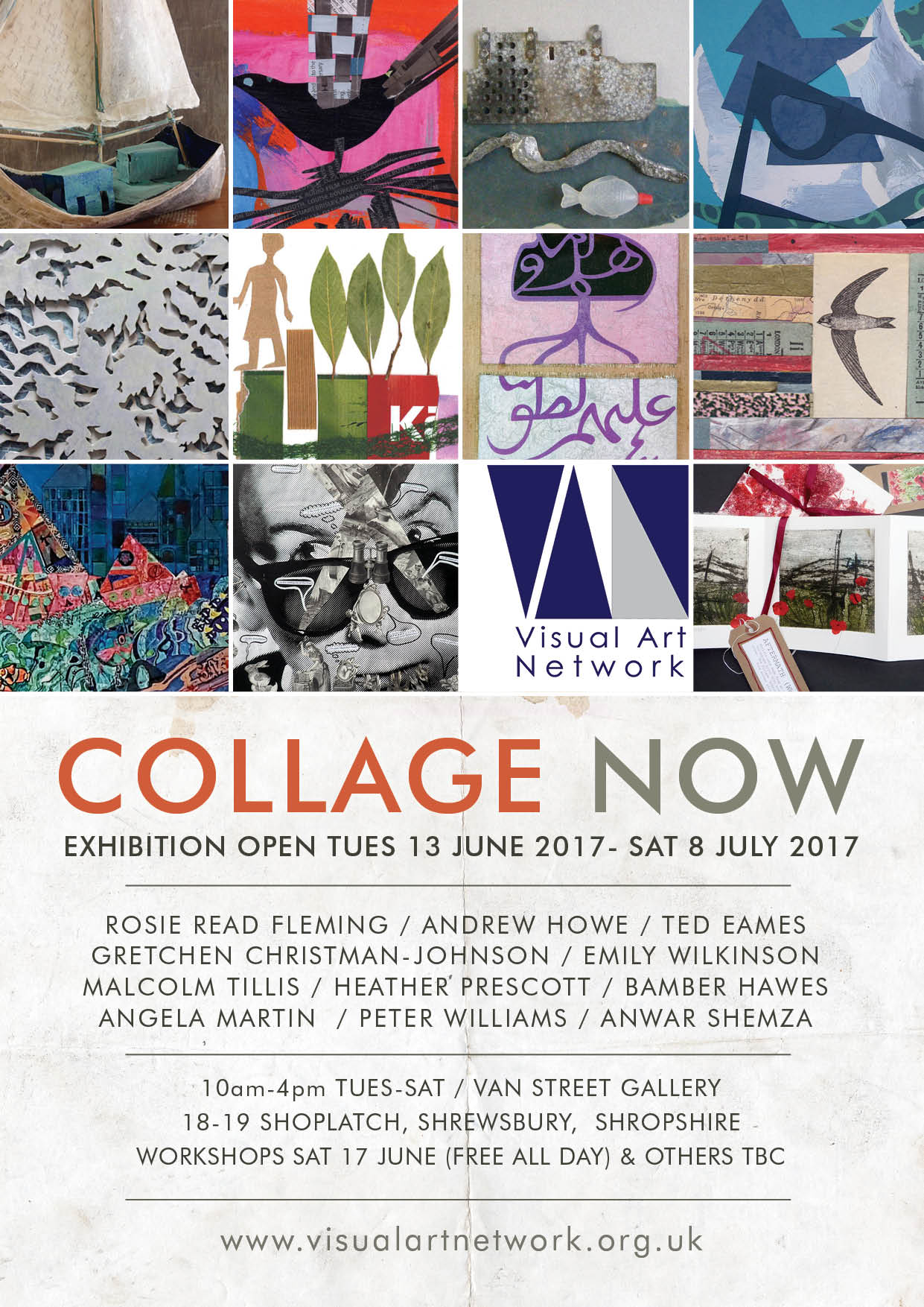 Collage Now exhibition, VAN Street Gallery, Shrewsbury